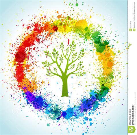 color paint splashes eco background stock photography image 27675802