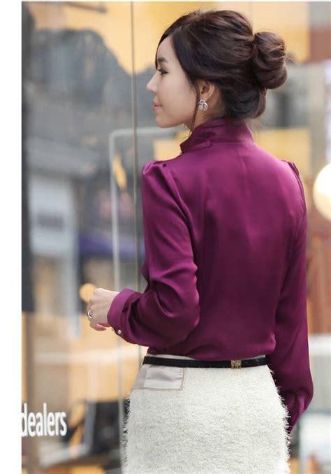 Beli Baju Ukuran Besar kemeja kerja wanita ukuran besar big size model
