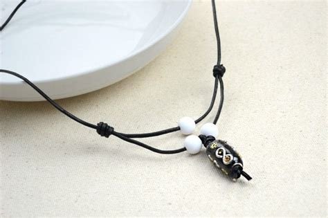 Mens Handmade Necklaces - handmade jewellery plain leather necklaces for 183 how