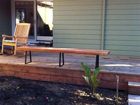 bench support diy patio furniture ideas from modern legs