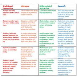 differentiated instruction what is differentiated