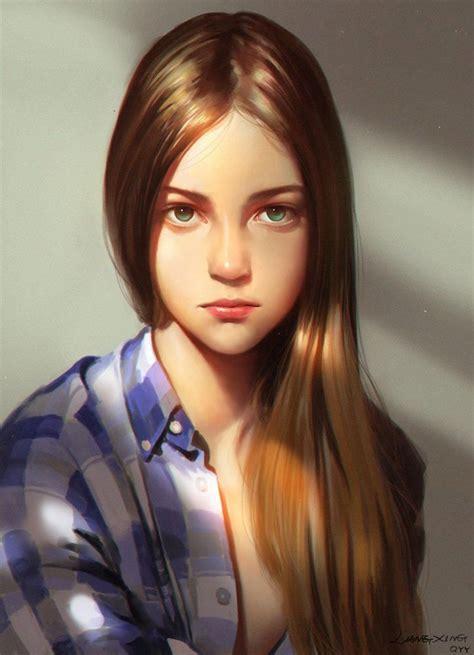 168 Best Images About Cg Portraits On Pinterest Models | girl cute girl digital portrait computer graphics