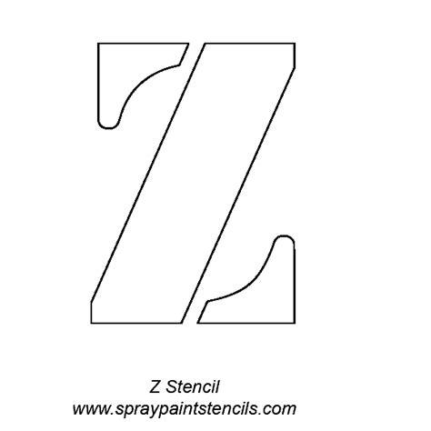 letter z template alphabet letter stencils