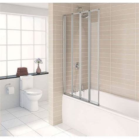 1600 shower bath with 4 folding screen