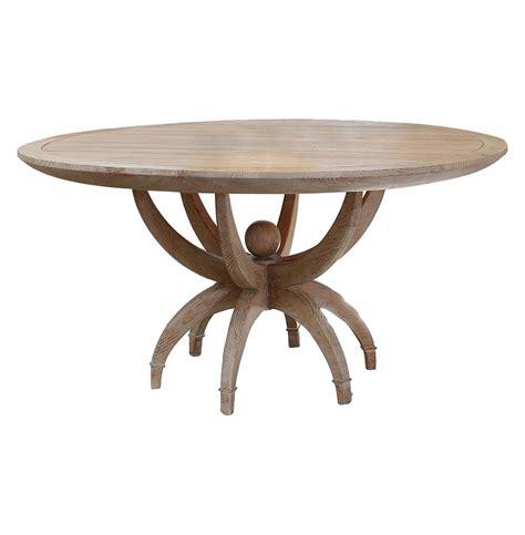 Beachy Dining Table Atticus Coastal White Oak Contemporary Dining Table
