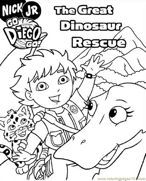 diego coloring pages nick jr go diego go coloring page az coloring pages