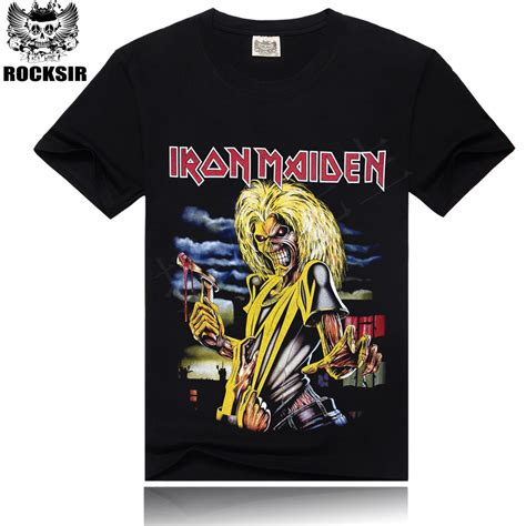 Tshirt Iron Maiden 2 iron maiden brand 3d t shirt new style 2016 heavy metal streetwear s t shirts 100 cotton