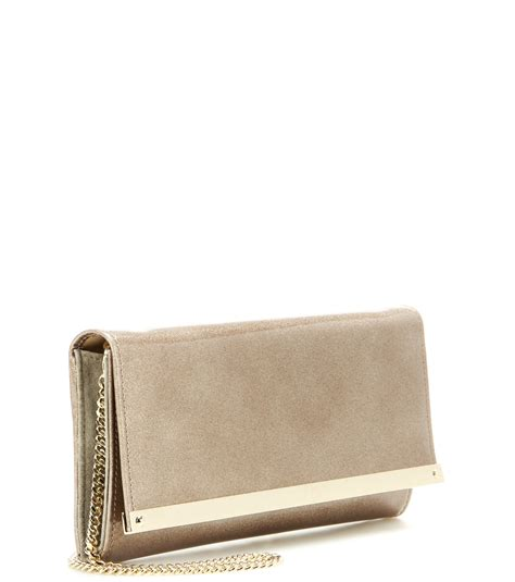 Jimmy Choo Mave Liquid Patent Clutch by Lyst Jimmy Choo Milla Metallic Patent Leather Clutch In