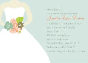 chic mint green wedding dress bridal shower invitations