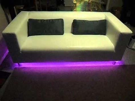 sofa with lights underneath led lights color changing sofa