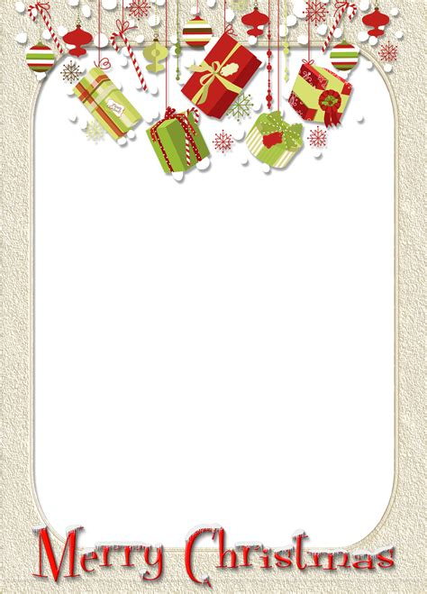 merry christmas cream photo frame  gifts gallery yopriceville high quality images