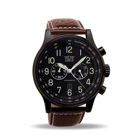 s aviator black chronograph waterresist 50m