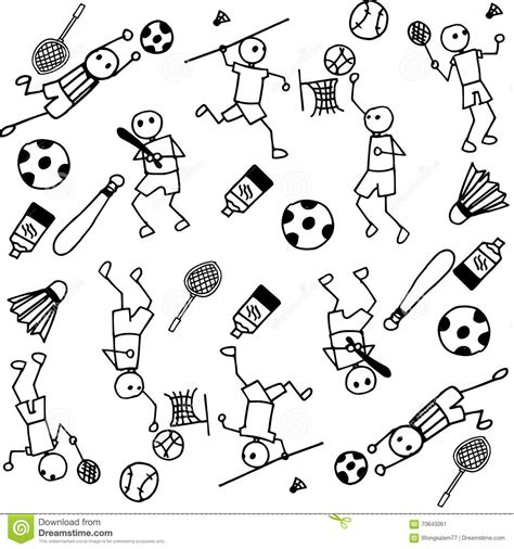 doodle sport sports of doodle stock vector image of sports