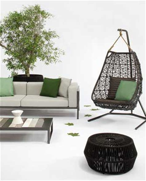 outdoor furniture design hanging swing chair by patricia urquiola designer homes