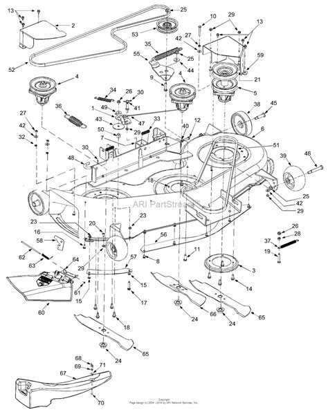mtd yardman parts diagram mtd 14ai808h131 2003 parts diagram for deck assembly h