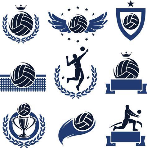 design logo volleyball beautifully volleyball logo vector material beautiful