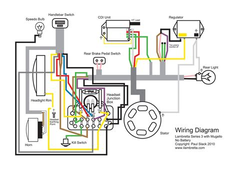 lambretta restoration wiring diagram  mugello  volt upgrade