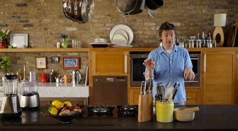 jamie at home kitchen design look a peek at jamie oliver s new kitchen kitchn