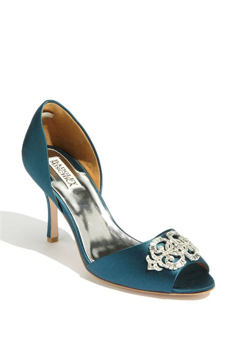 teal color shoes badgley mischka salsa in blue teal lyst