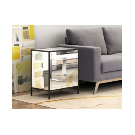 zuo upton end table mirror decorum furniture store