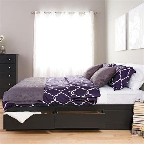 Black King Platform Bed Prepac Sonoma Black King Platform Storage Bed With 6 Drawers 58318