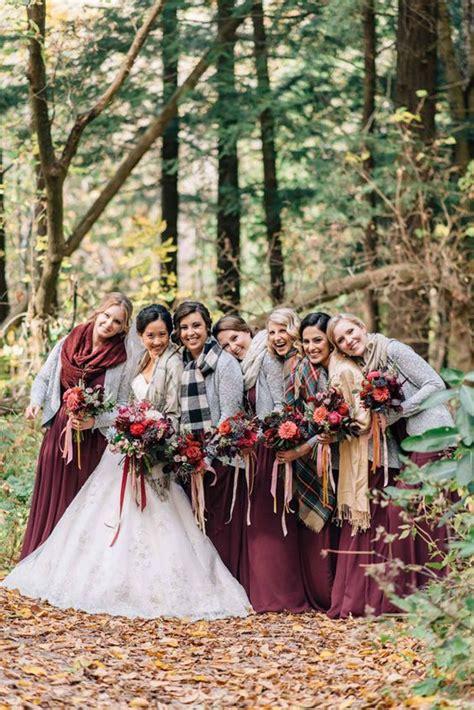 gorgeous winter bridesmaids   inspire weddingomania