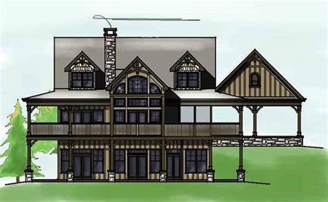 view house plans 3 bedroom open floor plan with wraparound porch and basement