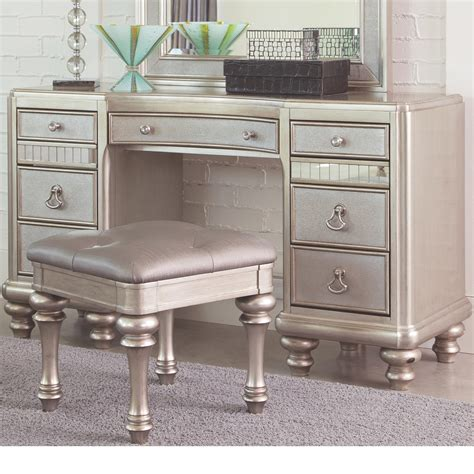 Coaster Bling Game 204187 Vanity Desk With 7 Drawers And