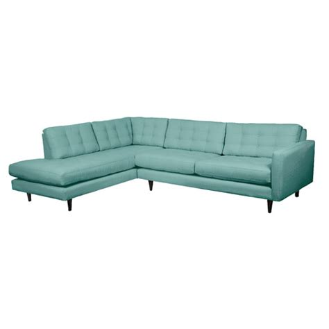 Loni M Designs Mid Century Left Hand Facing Sectional