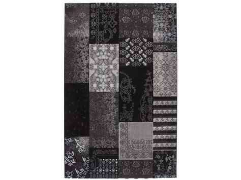 novazon tapijt finest fabulous vloerkleed patchwork retro antraciet with