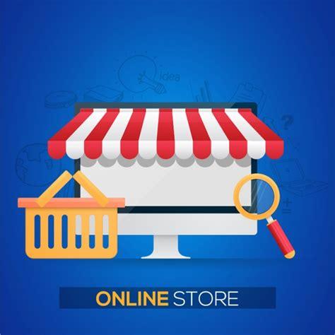background online shop background of online store vector premium download