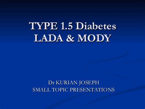 Dm Lada Lada Mody Diabetes