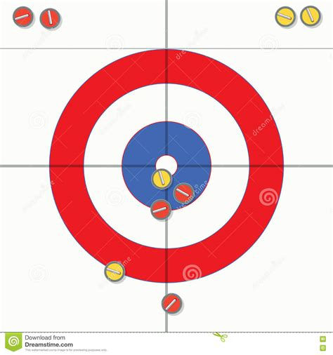 curling game sport royalty free cartoon cartoondealer curling stones royalty free stock photography
