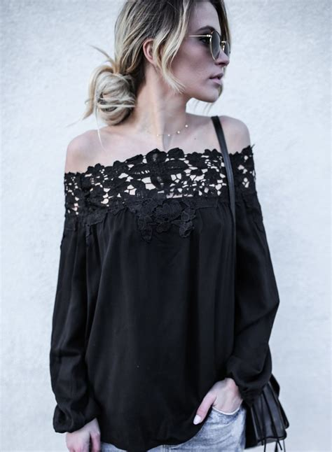 Shoulder Blouse And by S Fashion Shoulder Lace Sleeve Blouse