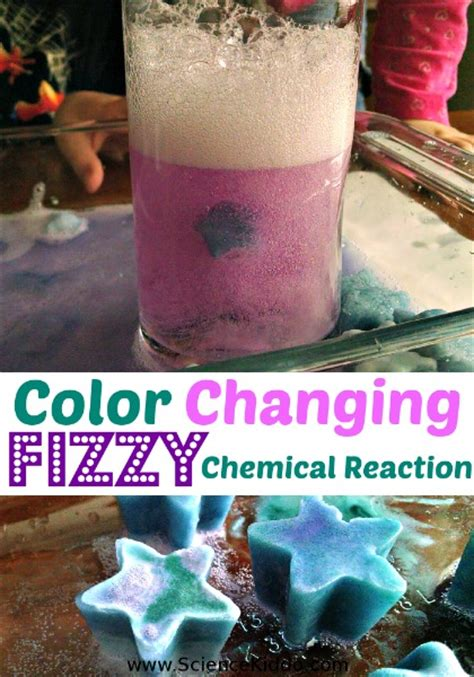 color change chemical reaction fizzy color changing chemical reaction