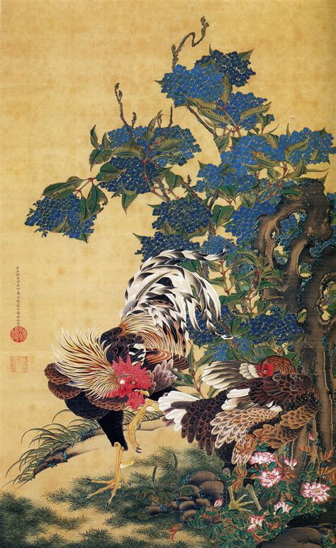 japan painting show file ito jakuchu ajisaisoukei zu jpg