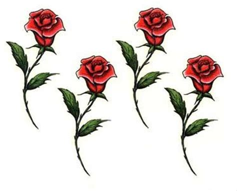 long stem rose tattoo designs stem designs
