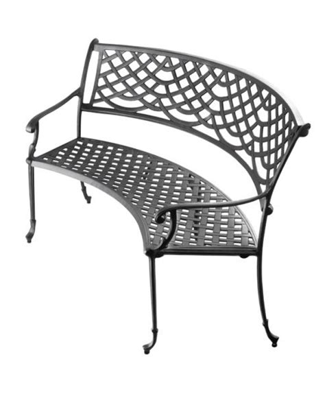curved metal garden bench alium monroe curved bench outdoor cast aluminium garden