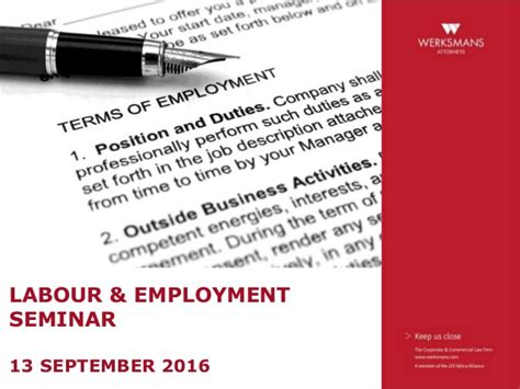 labour law section 197 labour employment seminar 2016