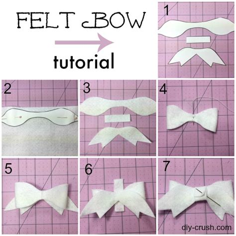 felt bow template felt bow pattern and tutorial diy crush