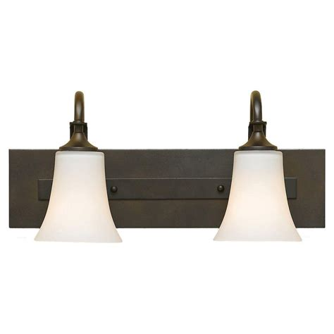 Feiss Vanity Lighting Feiss Barrington 2 Light Rubbed Bronze Vanity Light Vs12702 Orb The Home Depot