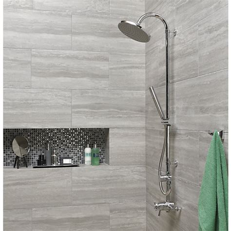 Wickes Everest Stone Porcelain Tile 600 x 300mm   Wickes.co.uk