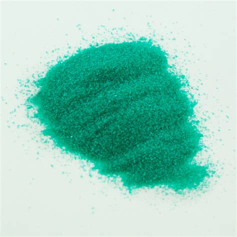 decorative sand decorative green colored sand 2lbs