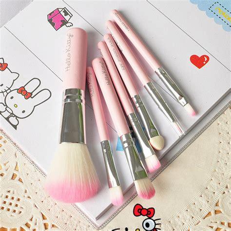 Make Up Brush 7 In 1 Black Hello brand new hello 7 pcs mini makeup brush set pink cosmetics kit maquiagem make up tool hair