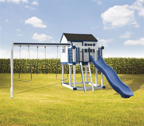 swing sets delivered and installed c 1 hideout maintenance free swing set delivered and
