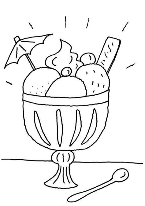 Imágenes Para Dibujar Helados | copa de helado dibujo para colorear e imprimir