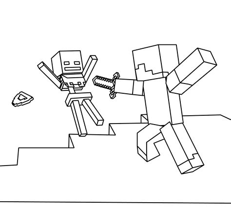Minecraft World Free Coloring Page ? Kids, Minecraft
