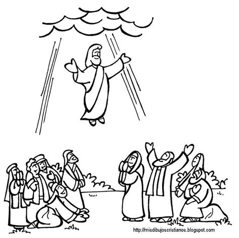 Jesus Ascension Coloring Page Coloring Home
