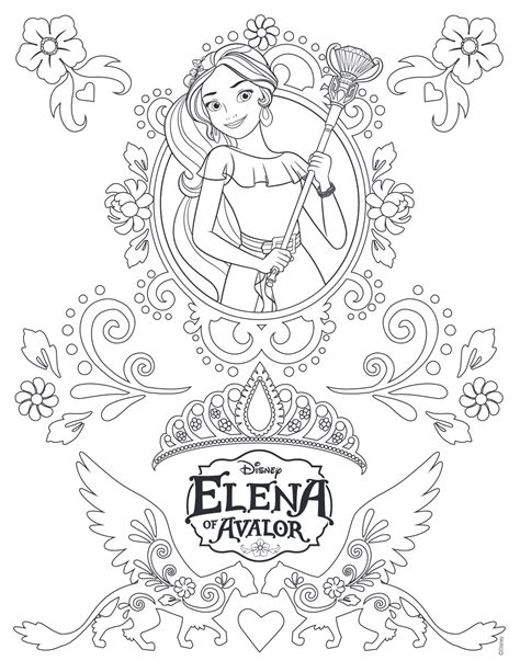 printable coloring pages elena of avalor elena of avalor coloring pages getcoloringpages com