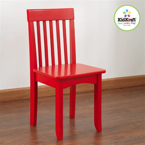 colored chairs kids chairs kid kraft avalon red colored chair from